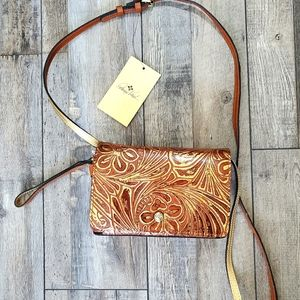 Patricia nash francia metallic crossbody purse